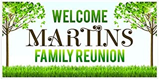Welcome to Family Reunion Banner Yard Personalized Backdrop Decoration