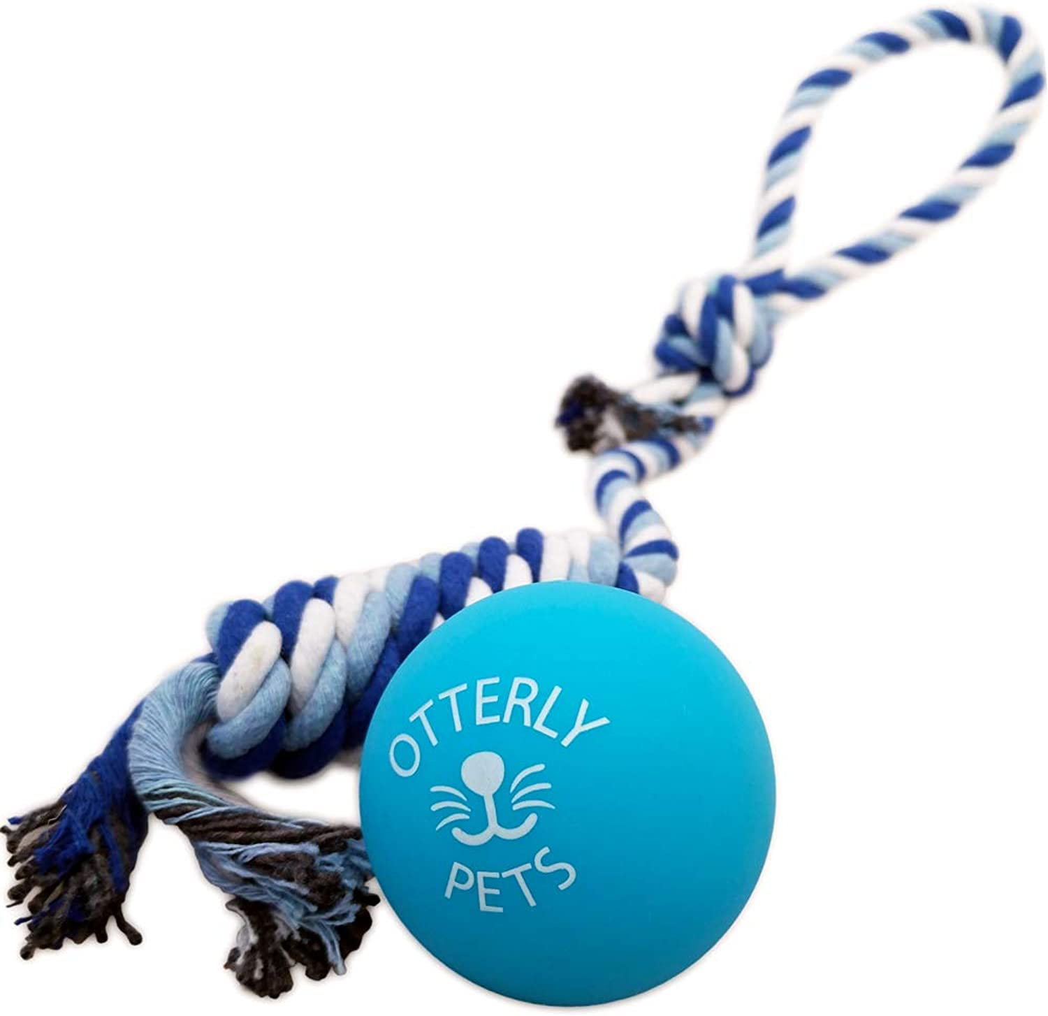 Otterly Pets Bouncy Ball Dog Toy  100% Natural FoodGrade Rubber SolidCore  Strong (But Not Indestructible) for Aggressive Chewers (bluee)