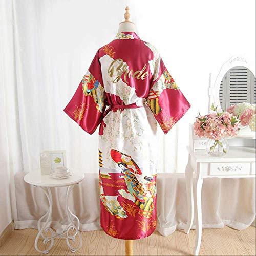 XFLOWR Zomer Vrouwen Zijde Lange Schoonheid Figuur Bruid Draag Simulatie Satijn Dressing Poplin Nachtjurk Kimono Slaapmode Nachtkleding
