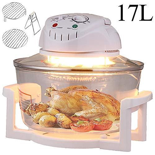 LCAZR 1300W Halogen-Air Fryer Mit 60Min Timer Mit Selbstreinigungsfunktion, Einstellbare Temperaturregelung, Ideal Für Brathähnchen, Gemüse, Pommes Frites,B