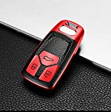 PPIEGER Accesorios de Carcasa de Llave de Coche de TPU, para Audi A4 Nuevo A4L A5 A6L QT S5 S7 Q7 TTS 2020