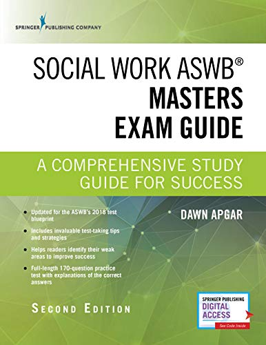 Compare Textbook Prices for Social Work ASWB Masters Exam Guide, Second Edition: A Comprehensive Study Guide for Success - Book and Free App – Updated ASWB Study Guide Book with a Full ASWB Practice Test 2 Edition ISBN 9780826147110 by Apgar PhD  LSW  ACSW, Dawn