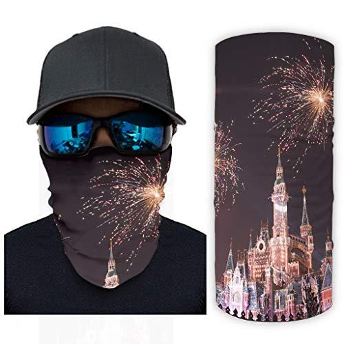 Castle Fireworks Magia Bufanda Bandanas Para Mujeres Hombres Polaina De Cuello Al Aire Libre Ropa De Mano Para Bicicleta Reutilizable Diadema Decoraciones Blanco onesize