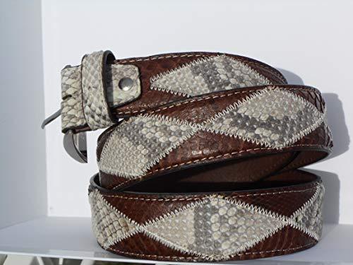 Cintura in pelle di Pitone - Patchwork