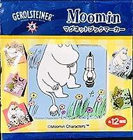 ムーミン マグネットブックマーカー 約4cm x 4cm グロシュタイナーのギフト品 全12種 各2個ずつ出品 注意:1個ずつ販売 17
