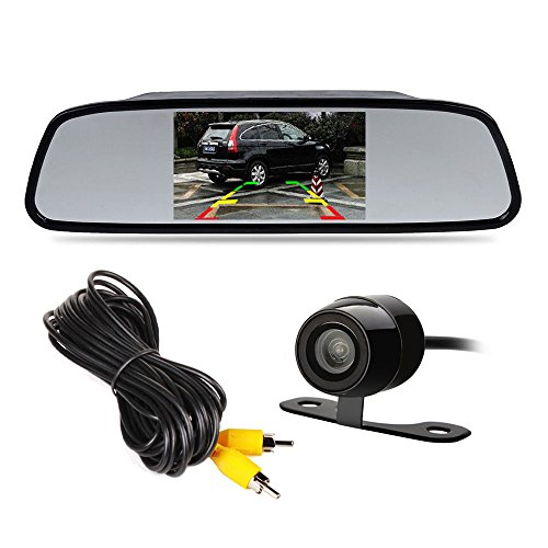 "4.3"" TFT LCD Car Rear View Mirror Monitor Kit + Waterproof Mini Backup Reverse Reversing Camera 170°For Car/Vehicle"