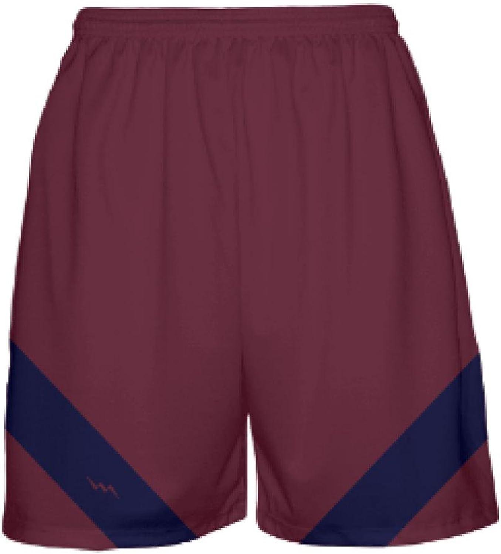 LightningWear Maroon Basketball ShortsMens Basketball ShortsMaroon Navy bluee Youth Basketball Shorts