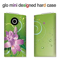 glo mini用ハードケース【ANA-Lyn】紫の花のイラスト 完全国内受注生産品 glo mini オリジナル グローミニカバー ケース