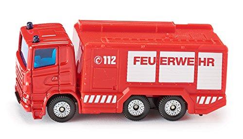 Siku 1034, Feuerwehr Tanklöschfahrzeug, Metall/Kunststoff, rot, Anhängerkupplung