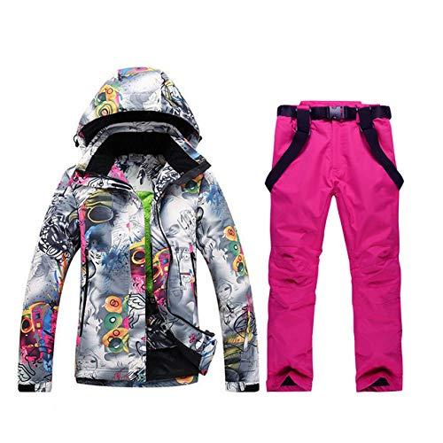 ski pak JSGJHXF2019 Winter Ski Suit Vrouwelijke Jas Set Winddicht Waterdicht Warm Kleurrijke Heldere Ms. Ski Suit Sets Vrouwen