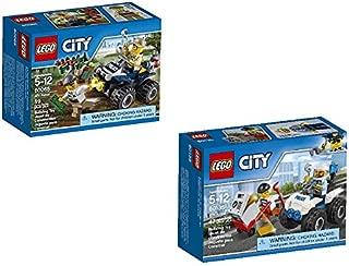 LEGO City Police ATV Patrol 60065 and ATV Arrest 60135 Bundle. Set of 2