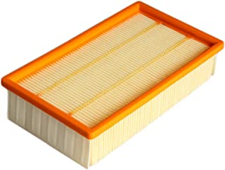 Fan-Ling 1X Flat Filter for Karcher Vacuum Cleaner NT25/1、NT35/1、NT45/1、NT55/1、NT361 ECO,Easy to Install and use