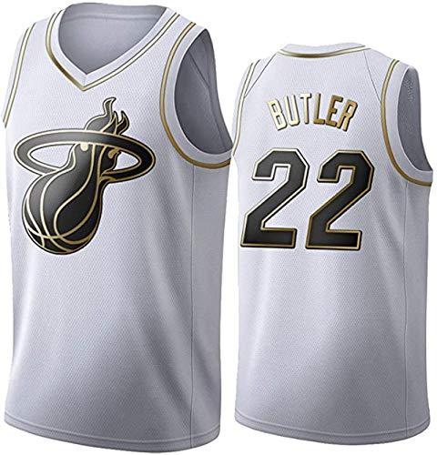 IUYF Camiseta de mayordomo número 22 de Heat, Camisetas de Baloncesto para Hombres y Mujeres, Chalecos para Actividades al Aire Libre, Sudaderas Sueltas y Transpirables M D