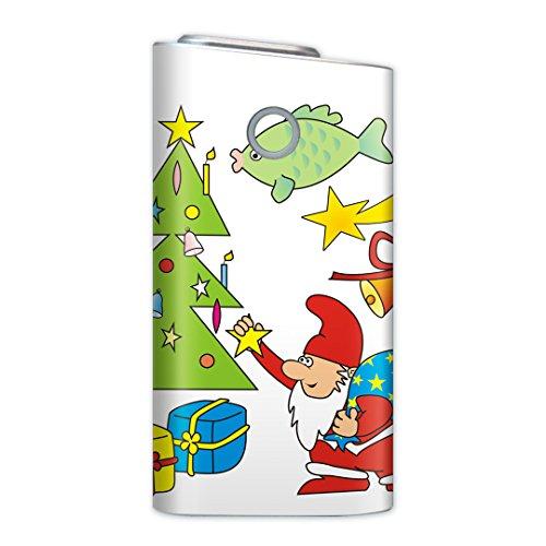 glo グロー グロウ 専用スキンシール 裏表2枚セット カバー ケース 保護 フィルム ステッカー デコ アクセサリー 電子たばこ タバコ 煙草 喫煙具 デザイン おしゃれ glow クリスマス サンタ キャラクター 010071