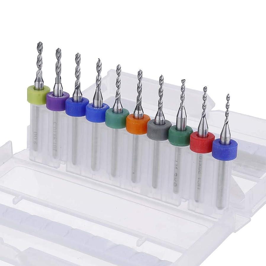画家ゆるく必要とするHXC-HXC CNC回路基板用10個入り1.1?2.0ミリメートルPCBドリルビットセット超硬彫刻フライス 回路基板