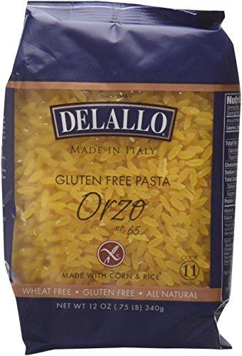 DeLallo - Gluten-Free Italian Orzo, 12 oz. (Pack of 4)