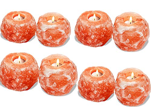 100% Natural Pink Himalayan Salt Candle Holder Tealight Holder (8)