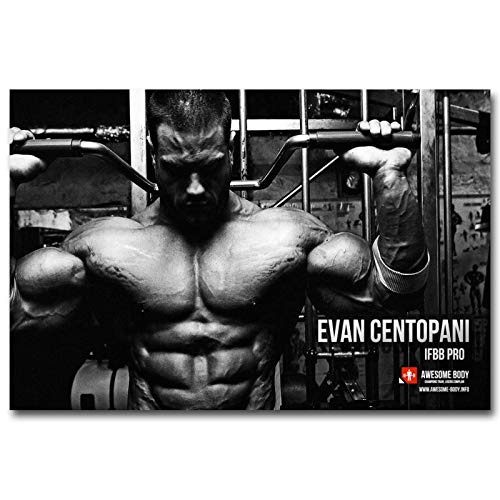 LGYJAL Arnold Schwarzenegger Gym Sports Inspirador Fitness Póster Inspirador Decoración de la Pared de la Sala de Estar Pintura Posters 50x70 cm (19.68x27.55 in)