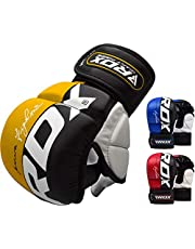 RDX Maya Cuero Guantes Boxeo Saco Sparring Entrenamiento Mitones Muay Thai Kick Boxing