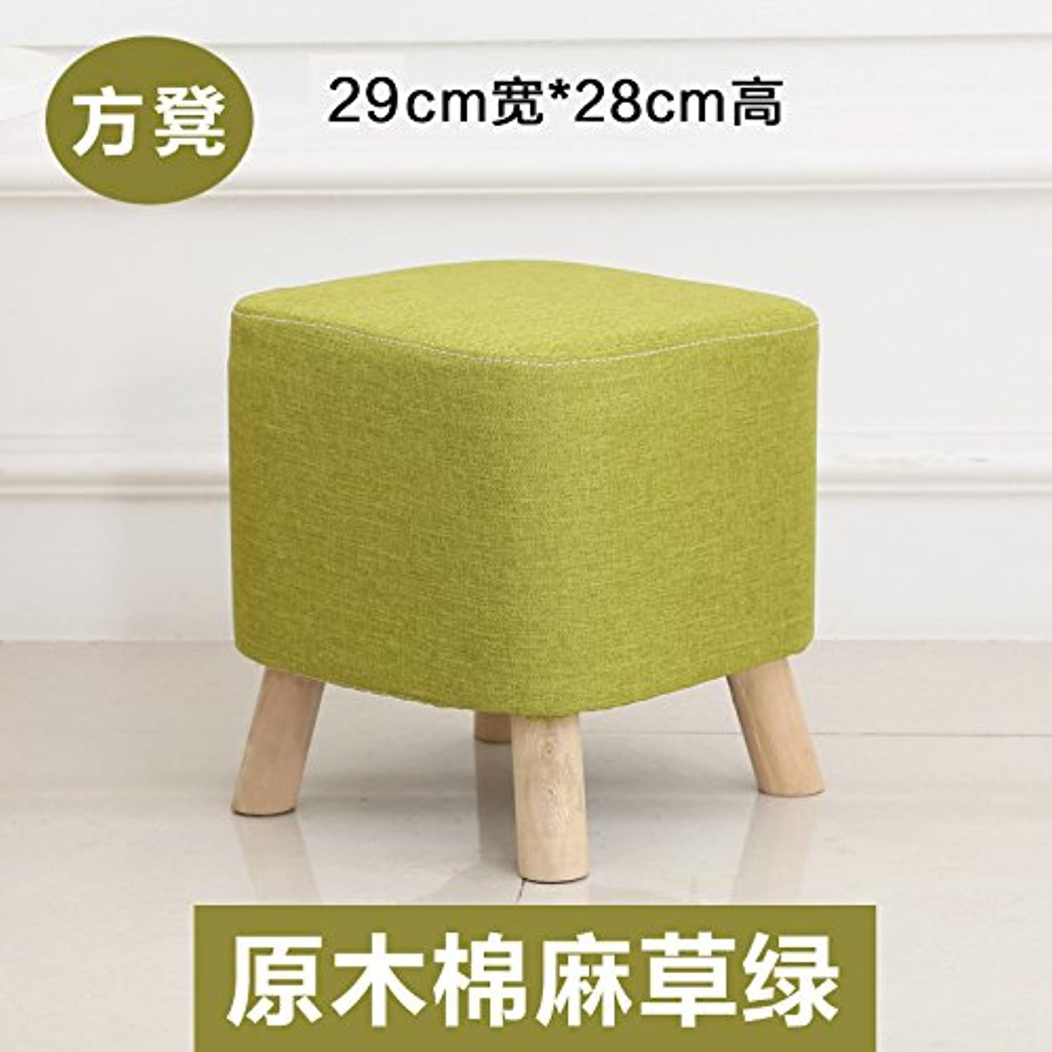 Dana Carrie Cloth sofas stools for shoes is simple and creative fashion round stool solid wood fabrics, D.