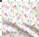 Feier, Geburtstag, Luftballons, Wasserfarben, Mehrfarbig,