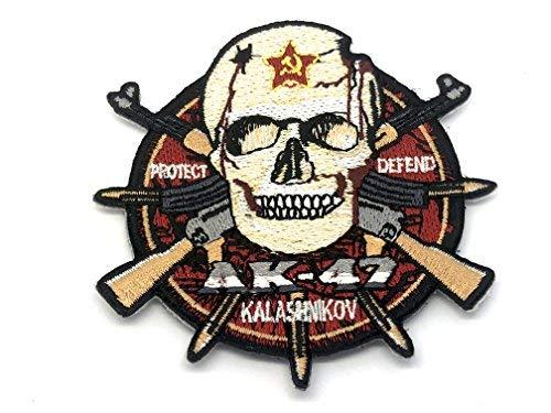 AK-47 Aufnäher mit Kalashnikov- und Totenkopf-Motiv, für Airsoft und Paintball