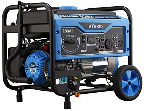 Pulsar 5,250W Dual Fuel Portable Generator with...