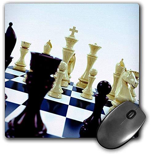 Mauspad, Schachbrett mit verschiedenen Schachfiguren Konzept (mp_155003_1)