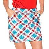 Royal & Awesome Women's Womens Golf Skort Skirt, Plaid a Blinder, US 10/UK 14
