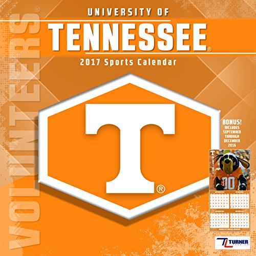 """Turner Licensing Sport 2017 Tennessee Volunteers Team Wall Calendar, 12""""X12"""" (17998011819)"""