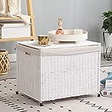 SogesHome Wäschekorb Wäschebox Wäschetruhe mit Deckel und Futter Aufbewahrungskorb mit...