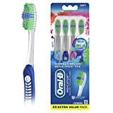 Oral-B Indicator Color Collection Manual Toothbrush, Soft, 4 Count...