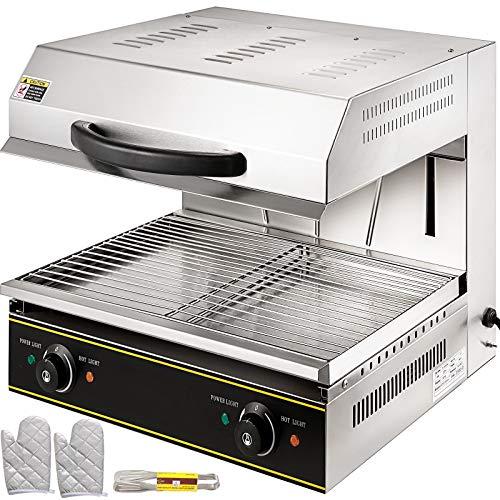 VEVOR 4000W Salamandre Electrique Professionnelle Toaster Hamburger Cuisine Grille Pain Toaster Pour Faire Fondre Du Fromage à Raclette, Griller Des Sandwichs, Des Steaks, d'Autres Viandes