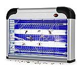 Lámpara repelente de mosquitos eléctrica WADEO, LED UV para interiores y exteriores de 20 W, trampa para matar mosquitos para la oficina en casa, alcance efectivo 50-150m²