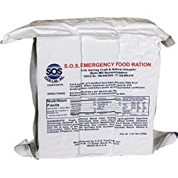 S.O.S. Rations Emergency 3600 Calorie Food Bar – 3 Day...