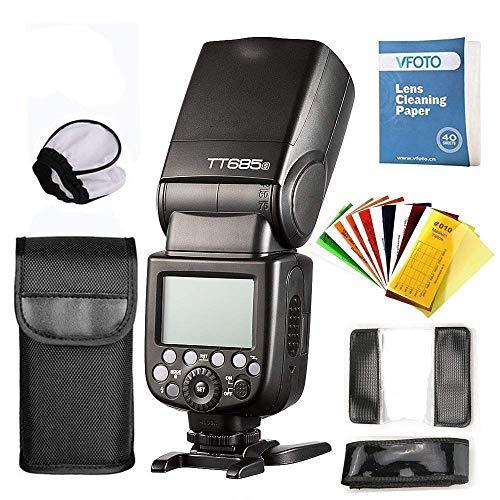 Godox TT685S TTL Blitzgerät Aufsteckblitz Speedlite für Sony High Speedlite 2.4G HSS 1 / 8000s GN60 Wireless mit und Farbblitzfiltern für Sony A77II A7RII A7R A58 A99 ILCE6000L usw