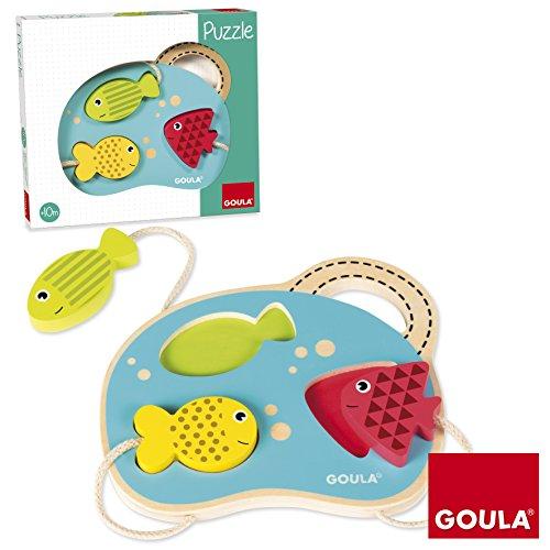 Goula - Puzzle con mar, juguete para bebé, color azul, rojo y amarillo (Diset 53451) , color/modelo surtido (Juguete)