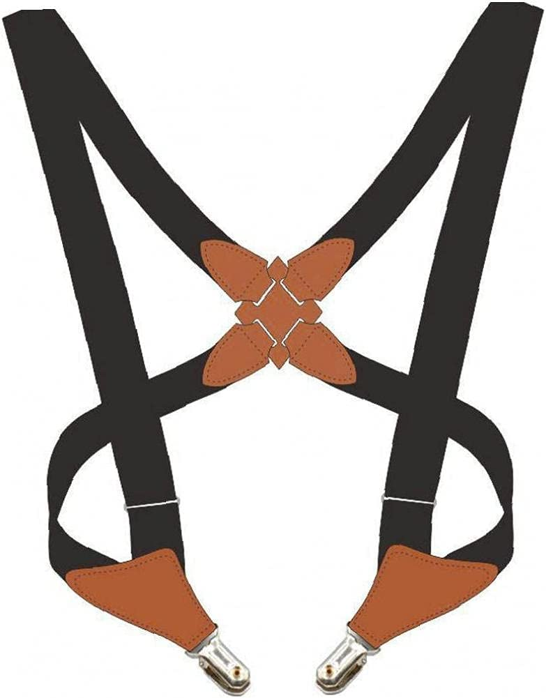 Onsinic 1 Pc Men Braces with Metal Clips High Elastic M Shape Suspender for Trousers Pants Shirt