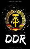 DDR Logo - Splitter Style Modern: Notizbuch / Notizblock - 100 Seiten - kariert