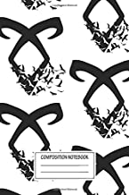 Notebook: Black Angelic Rune (birds) , Journal for Writing, Size 6