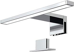 Orno Nortes Led Spiegellamp voor in de Spiegelkast - Kleur: Zilver - 5W - 4000K - 300lm - IP44 (4 Montagetypes)