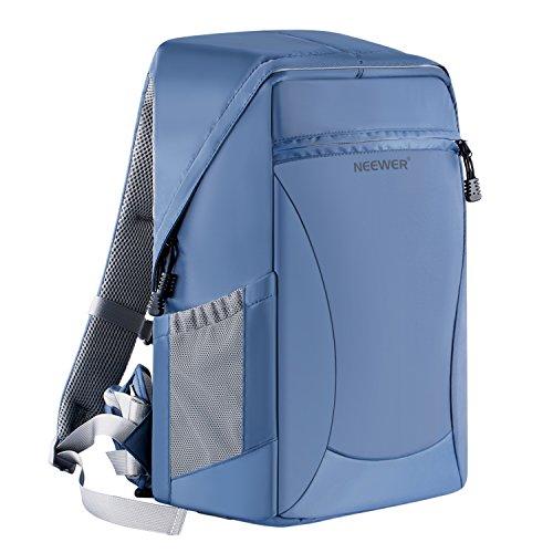 Neewer 48x33x20cm Grande Zaino Backpack Impermeabile Antiurto con Funzione Antifurto per Fotocamere DSLR & Mirrorless e Altri Accessori Fotografici (Blu)