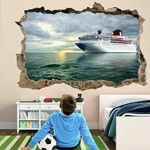 Pegatinas de pared Crucero Ocean Liner 3D Wall Art Sticker Mural Decal Poster Habitación de los niños FP14 poster wallpaper- 80×120cm