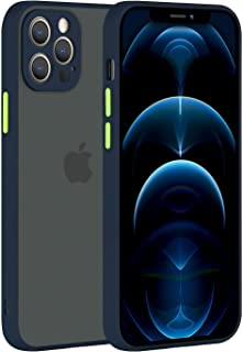 Case/Cover with camera lens protection Compatible with Apple iPhone 12 Pro Case (6.1 inches) translucent matte Shockproof ...