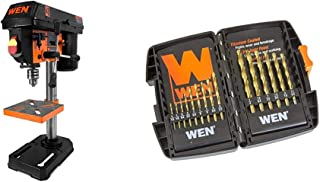 WEN DB1440 40-Piece 1//4-Inch Hex Shank Impact-Rated Quick-Release Screwdriver and Drill Bit Set