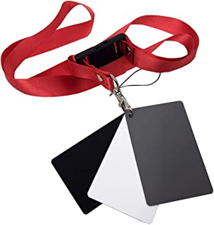 Andoer Foldable Grey/White Balance 18% Grey Reference Reflector Grey Card with Carrying Bag (3.3 x 2.2inch)