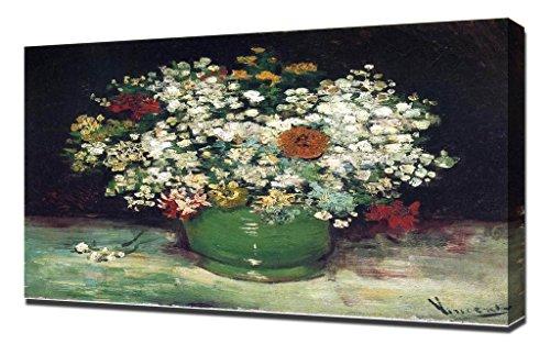 Vincent Van Gogh Vaas Met Zinnia's En Andere Bloemen - Hoge Kwaliteit Ingelijste Canvas Art Print Reproductie