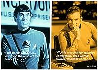 STAR TREK James Kirk + Mr. Spock Postcard (スター トレック ジェームズ T カーク + ミスター スポック) ポストカード 2枚セット