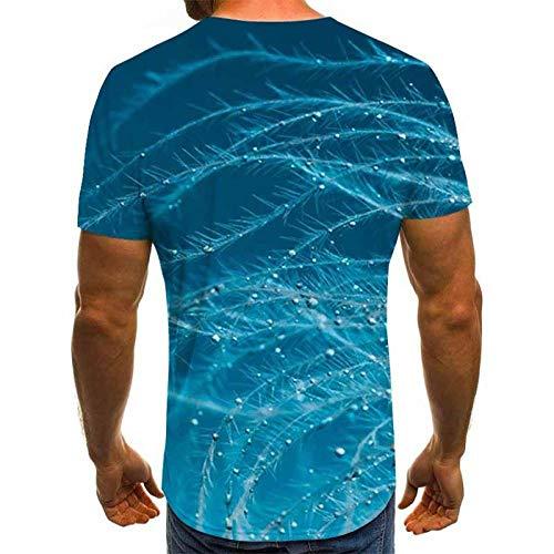 ADGUH Estilo Malla patrón 3D impresión Digital Camiseta Casual Cuello Redondo Manga Corta