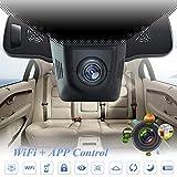 Lonshell, telecamera DVR nascosta per auto, videoregistratore Full HD 1080P, videocamera per cruscotto con grandangolo di 170° e visione notturna (colore nero)